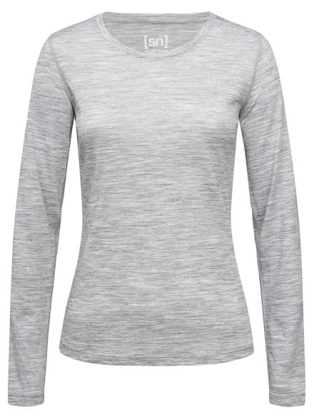 super.natural Base 140 Tech t-shirt met lange mouwen grijs