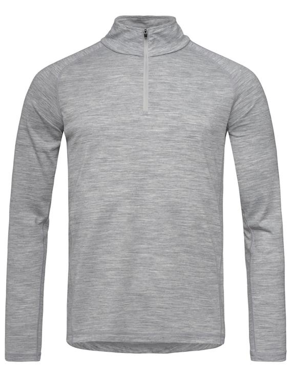 super.natural Base 1/4 Zip 175 Tech t-shirt met lange mouwen grijs