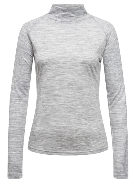 super.natural Base Turtle Neck 175 Tech t-shirt met lange mouwen grijs