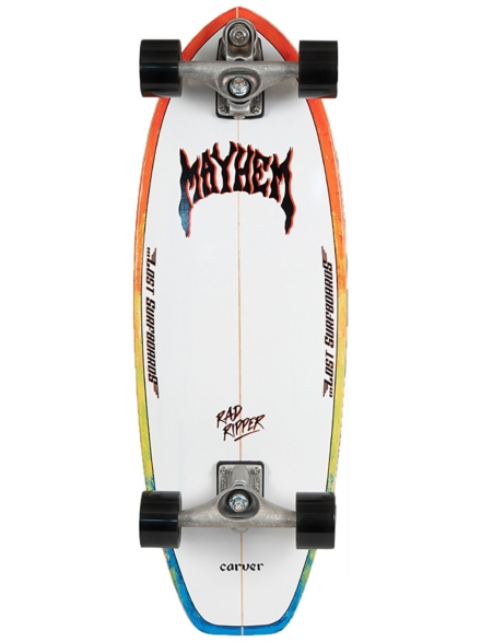 "Carver Skateboards X Lost Rad Ripper C7 31"" Surfskate patroon"