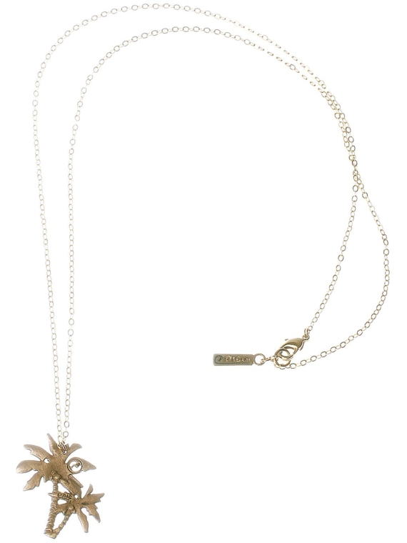 Epic Palmtree Necklace geel