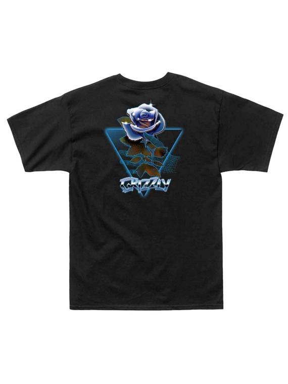 Grizzly Chrome Rose T-Shirt zwart