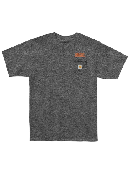 Grizzly Stamp Work Pocket T-Shirt grijs