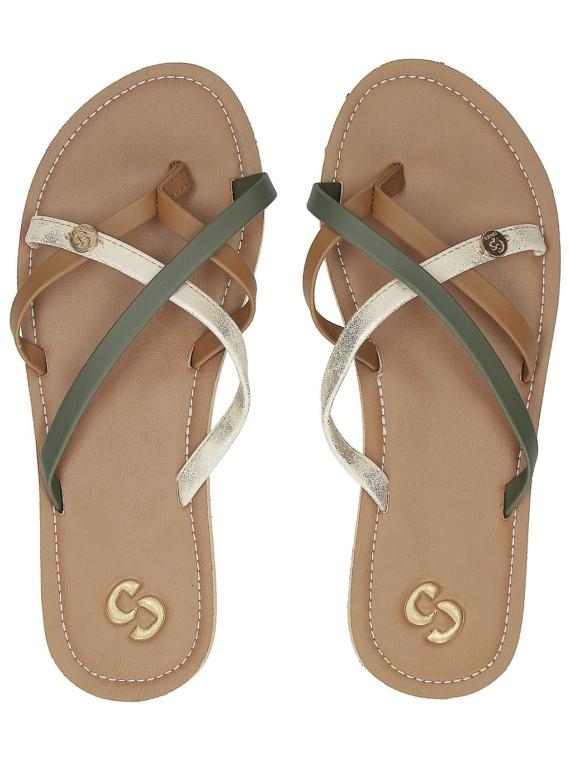 Sinner Coral slippers bruin