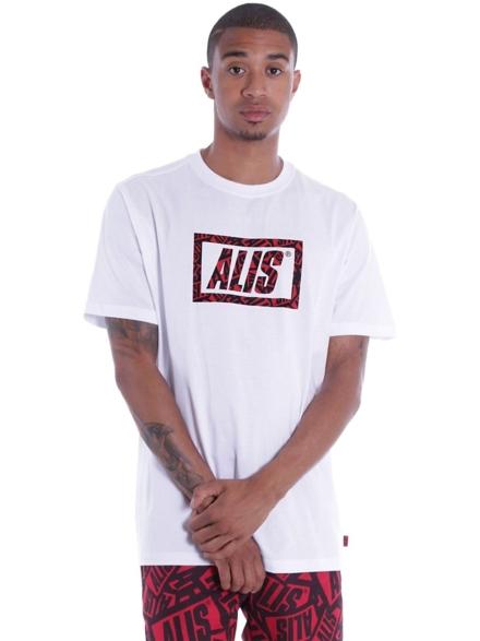 ALIS Sticker Game Stencil T-Shirt wit