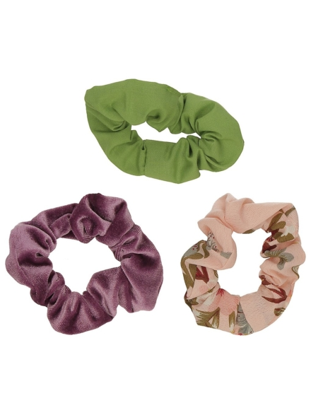 Stone and Locket 3Pk Scrunchie patroon
