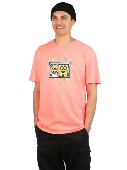 Teddy Fresh X Spongebob Friends T-Shirt roze