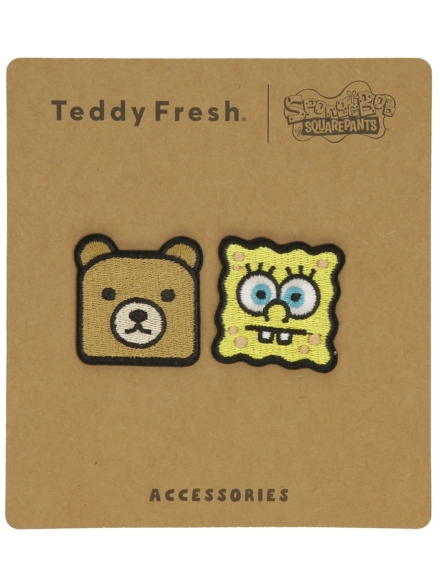 Teddy Fresh X Spongebob Head Patches patroon