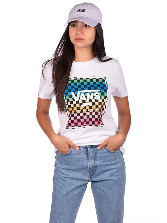 Vans Vintage Check Box T-Shirt wit