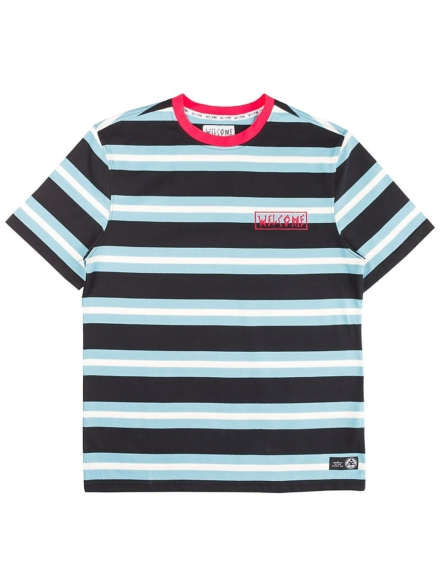 Welcome Medius Stripe T-Shirt zwart