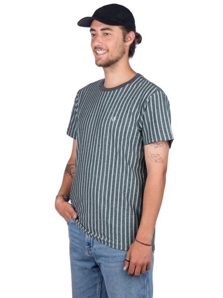 HUF Overdyed Vert Stripe T-Shirt grijs