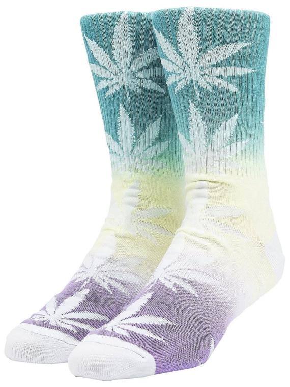 HUF Plantlife Gradient Dye skisokken blauw