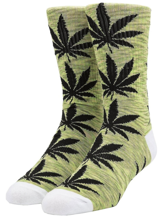 HUF Plantlife Melange skisokken groen