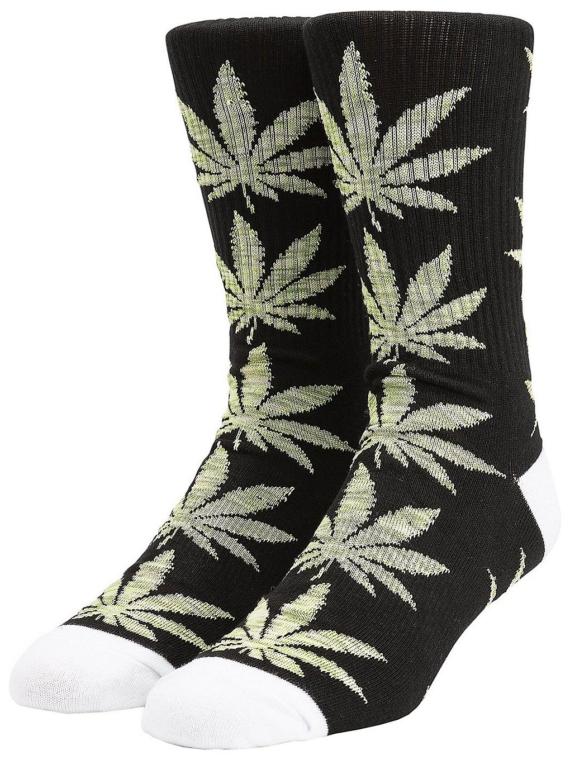 HUF Plantlife Melange Leaves skisokken zwart