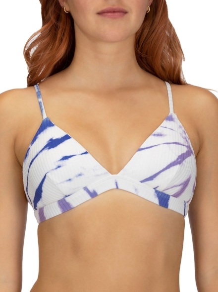Hurley Rib Spider Royale Tri Bikini Top blauw