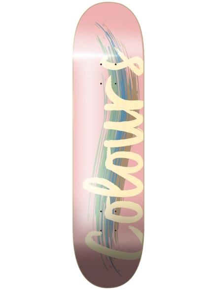 "Colours Logo 8.25"" Skateboard Deck roze"