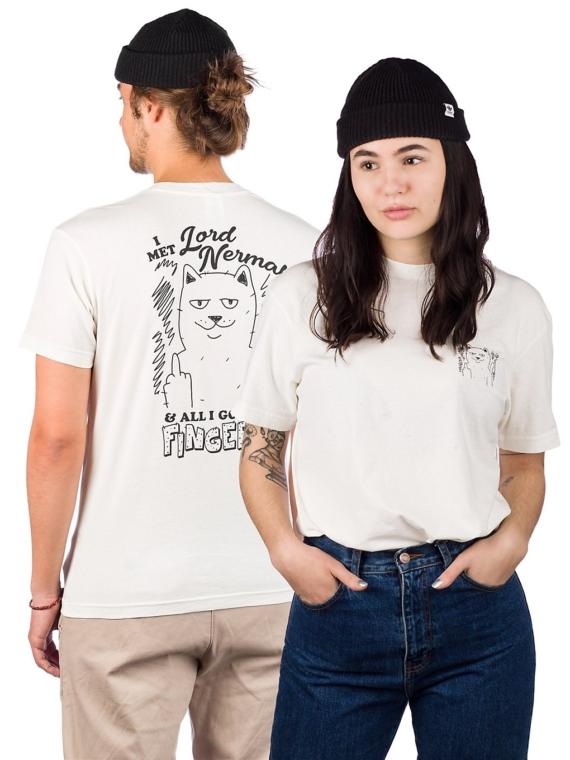 RIPNDIP Fingered Natural T-Shirt bruin