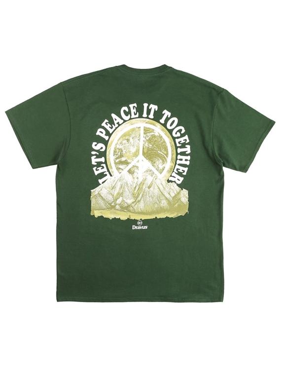 Dravus Peace it T-Shirt groen