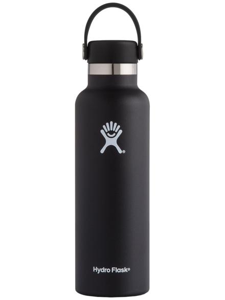 Hydro Flask 21 Oz Standard Mouth With Standard Flex Bottle zwart