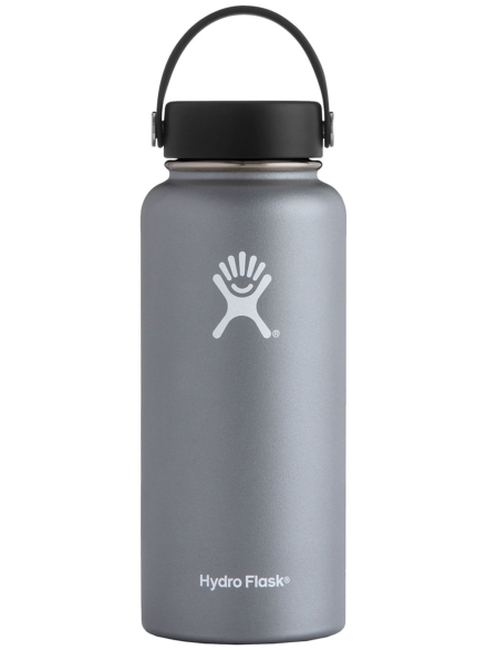 Hydro Flask 32 Oz Wide Mouth With Flex petje Bottle grijs