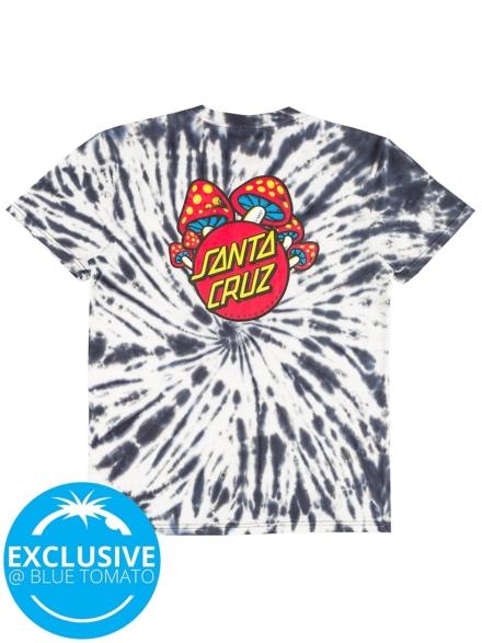 Santa Cruz X BT Shroom Dot T-Shirt zwart