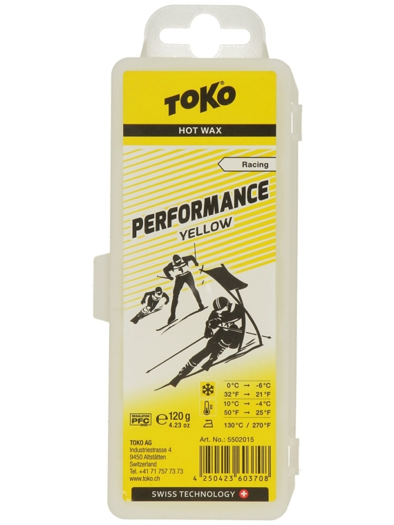 Toko Performance Yellow -4°C / 10°C 120g Wax geel