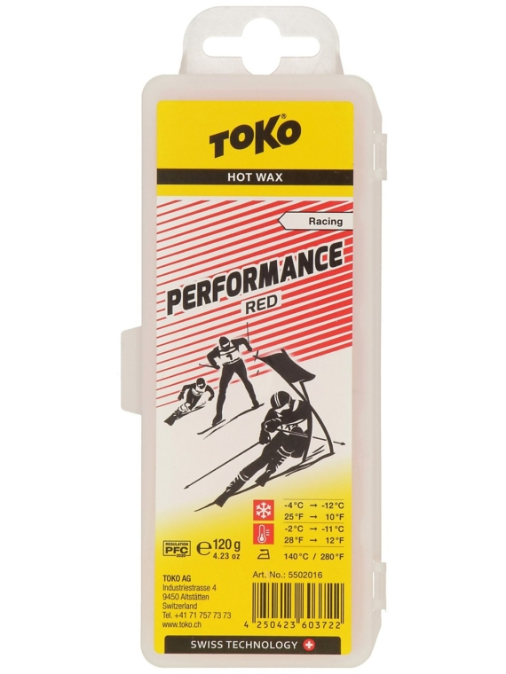 Toko Performance Red -2°C / -11°C 120 g Wax rood