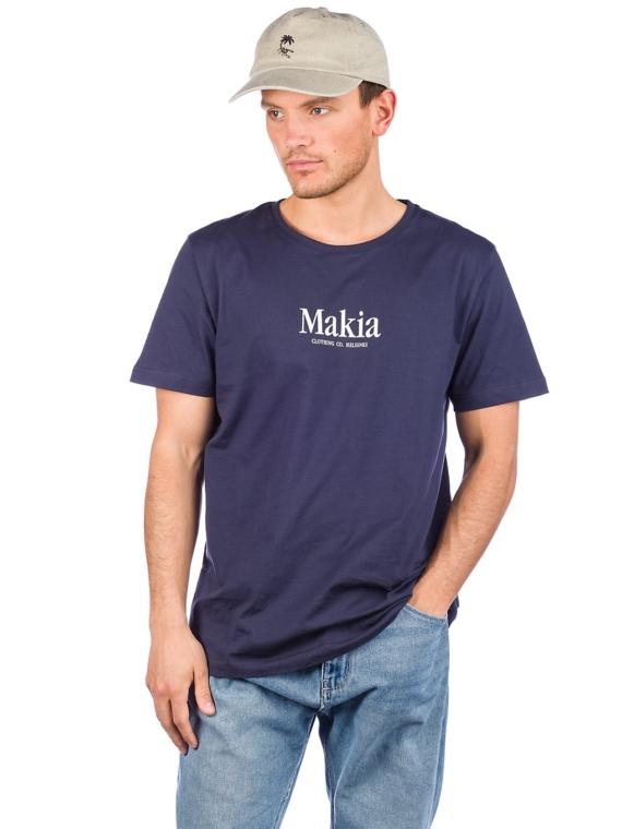 Makia Strait T-Shirt blauw
