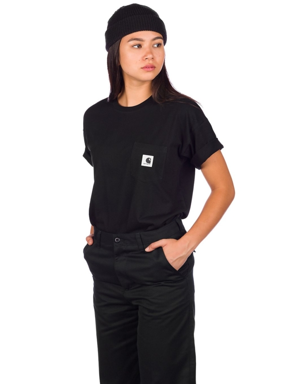 Carhartt WIP Carrie Pocket T-Shirt zwart