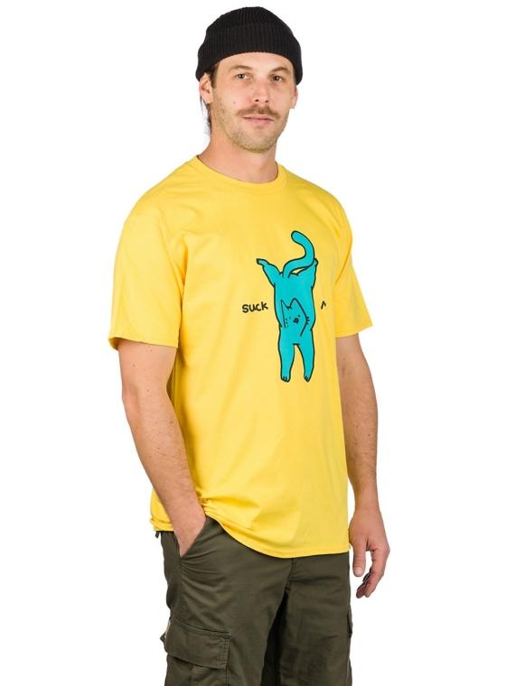 Leon Karssen Suck My Ass T-Shirt geel