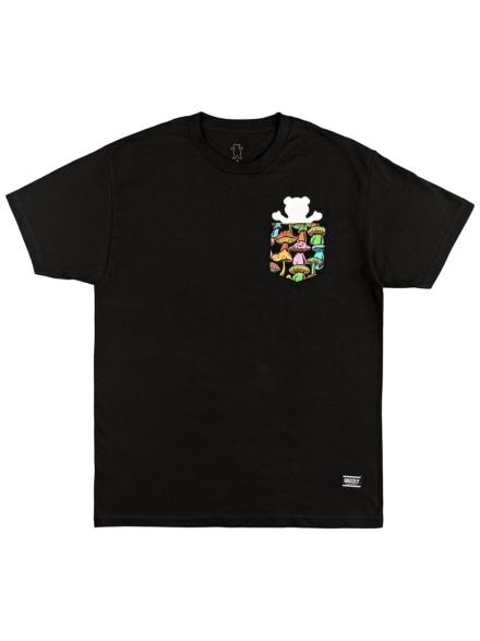 Grizzly Fungi Bear Pocket T-Shirt zwart