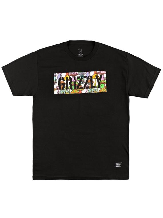 Grizzly Fungi Box Logo T-Shirt zwart