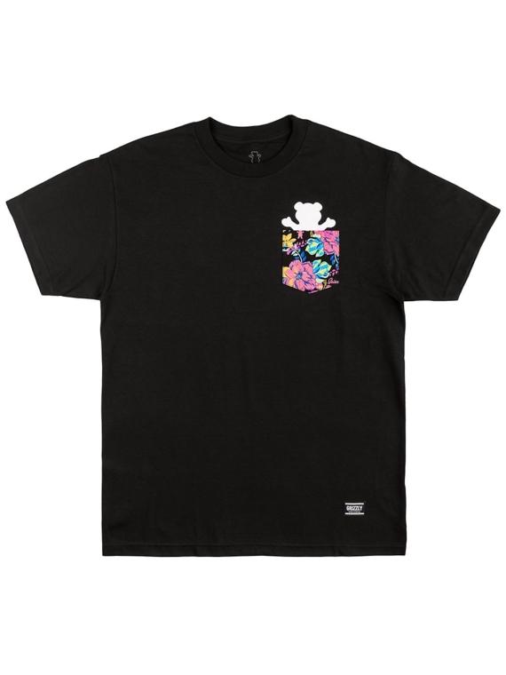 Grizzly Maui Bear Pocket T-Shirt zwart