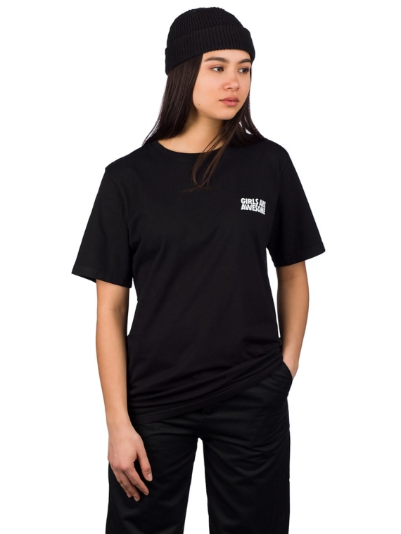 meisjes Are Awesome Icon Boyfriend T-Shirt zwart