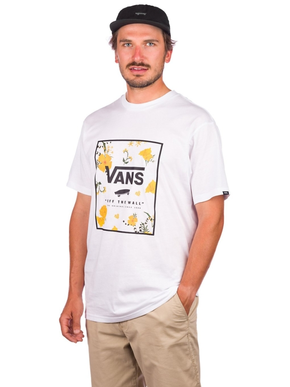 Vans Print Box T-Shirt wit