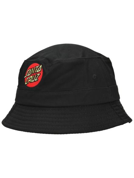 Santa Cruz Classic Dot Bucket hoed zwart