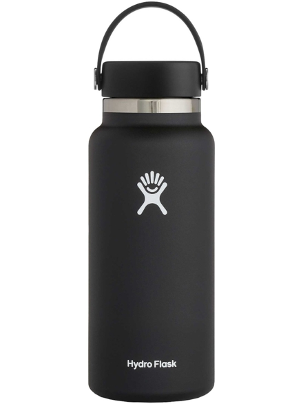 Hydro Flask 16 Oz Wide Mouth Flex Sip Lid Bottle zwart