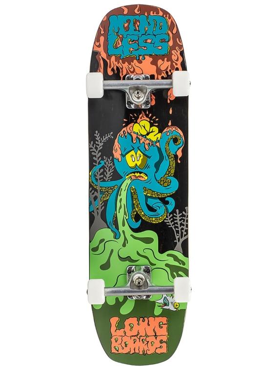 Mindless Longboards Octopuke 32.5″ Complete oranje