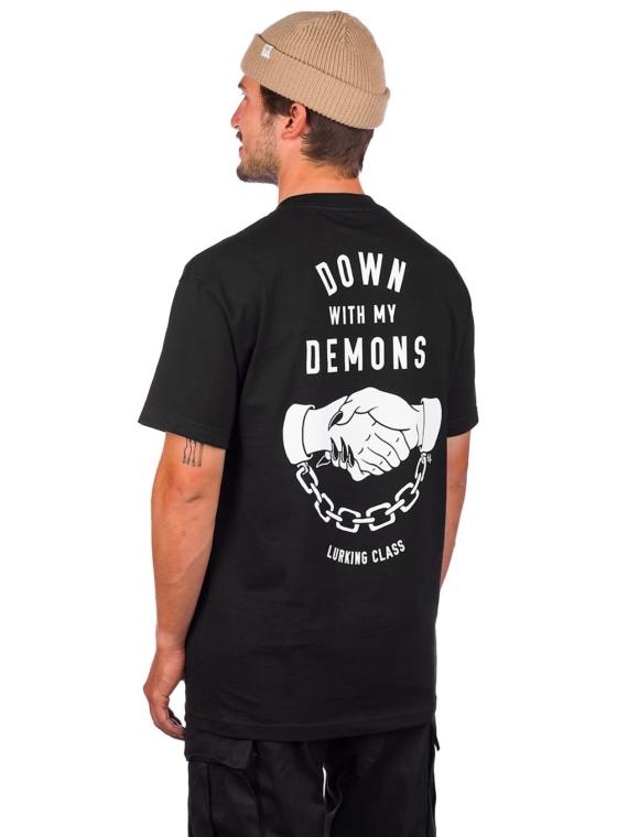 Lurking Class Down With My Demons T-Shirt zwart