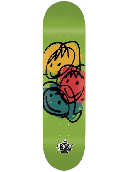 "Foundation Faces 8.25"" Skateboard Deck patroon"