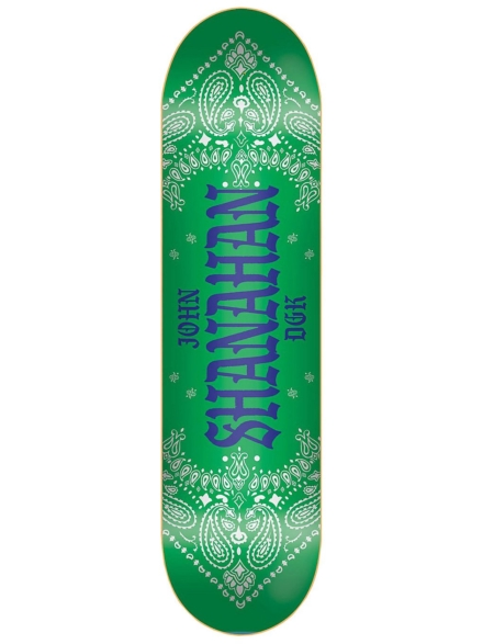 "DGK Colours Shanahan 8"" Skateboard Deck groen"