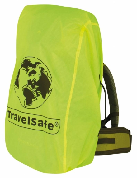 Travelsafe Combi cover L 55-100l backpack flightbag & regenhoes geel