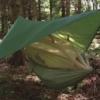 Highlander Crusader trekking hangmat met tarp en mosquitonet olive groen