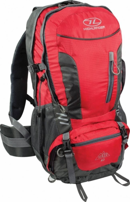 Highlander Hiker backpack 40L Rood