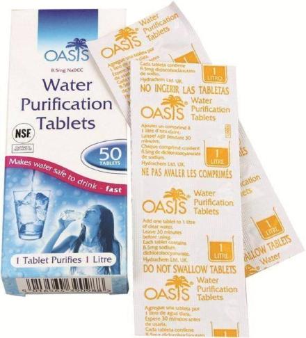 Oasis waterzuivering tabletten 50 x 1 liter
