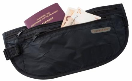 Travelsafe moneybelt lightweight reisportemonnee zwart- twee ritsen