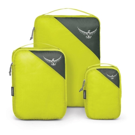 Osprey Ultralight Packing Cube set van 3 Electric Lime