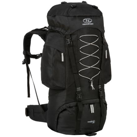 Highlander Rambler 88l backpack zwart zilver