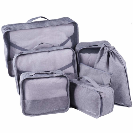 DreamTravel Packing cubes organiser set van 7 grijs