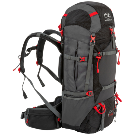 Highlander Ben Nevis 65L trekking backpack zwart